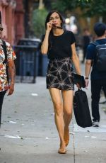 Famke Janssen Shows off her legs as she steps out in New York