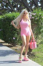 Frenchy Morgan Poses for photographers in Los Angeles