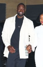 Gabrielle Union In all white as she steps out for a romantic dinner date with her husband Dwyane Wade at Nobu in Malibu