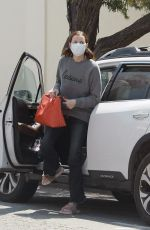 Geena Davis Steps out for a coffee run with her dog in Los Angeles