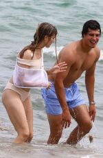 Genie Bouchard Enjoys a day at the beach in Miami