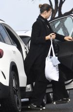 Georgia Fowler Seen returning home with her dog in Sydney