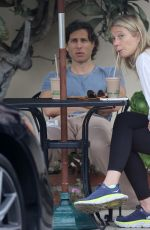Gwyneth Paltrow And Brad Falchuk join friends on a walk before getting splashed by a moving car in Montecito
