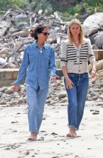 Gwyneth Paltrow Takes a stroll on the beach in Montecito after checking on the build of her eco-friendly mega mansion
