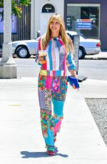 Heidi Klum Looks colorful while picking up an iced coffee in West Hollywood