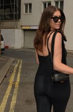 Imogen Thomas Leaving Sexy fish restaurant after enjoying lunch with friends in London