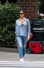 Irina Shayk Is pictured out on a stroll in New York