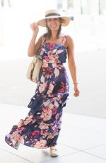 Janette Manrara Looks sensational in a ruffled floral dress and Panama hat after presenting Strictly Fitness on BBC Morning Live in London