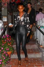 Jasmine Tookes, Josephine Skriver & Sara Sampaio Enjoy a girls night out at the Ivy in West Hollywood