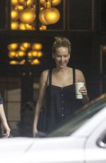 Jennifer Lawrence Looks happy as she heads to the set of her new movie