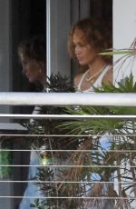 Jennifer Lopez At a recording studio where she was seen having lunch with her team in Miami