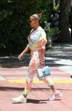 Jennifer Lopez Goes out for a bite with her kids Emme and Max in Miami