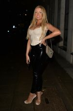 Jess Gale and Eve Gale head for a night out at MKNY house Mayfair, London