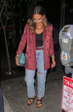 Jessica Alba Out for dinner at Avra in Beverly Hills
