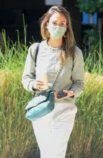 Jessica Alba Outside her company offices in Brentwood