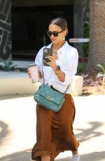 Jessica Alba Outside her office in Los Angeles