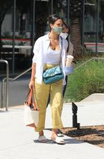 Jessica Alba Outside her offices in Los Angeles