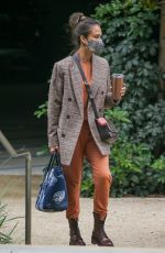 Jessica Alba Pictured looking business ready as she arrives at her billion-dollar-plus company in Santa Monica