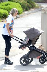 Jessica Hart Goes for an afternoon stroll with her baby in Los Angeles
