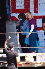 Jodie Whittaker Seen outside the Bristol location where filming for A Doctor Who new years special is taking place