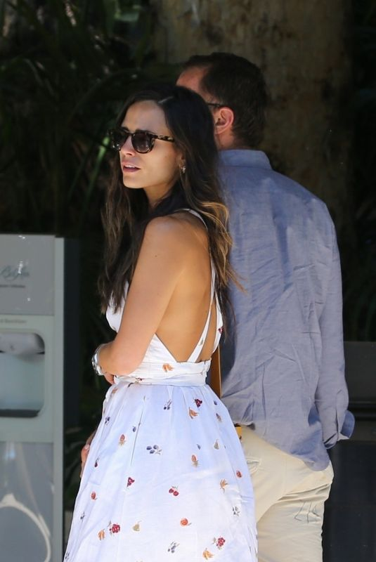 Jordana Brewster and boyfriend Mason Morfit look to have a relaxing Sunday and spend the day at the Bel Air hotel