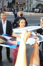 Jordana Brewster Signs autographs for fans at F9 Premiere in Hollywood