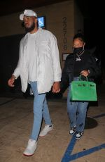 Jordyn Woods Steps out for a late night romantic dinner date at Nobu in Malibu