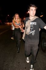 Josie Canseco Leaving a night of partying with friends at Nightingale in Hollywood