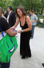Julia Fox Signs for fans at Battery Park, New York
