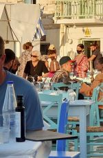 Justin Bieber and wife Hailey Baldwin Bieber were spotted enjoying a romantic dinner at a restaurant on a Greek island