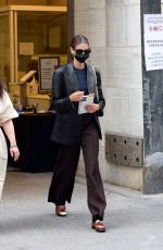 Kaia Gerber Seen leaving Marc Jacobs Fashion Show in New York City