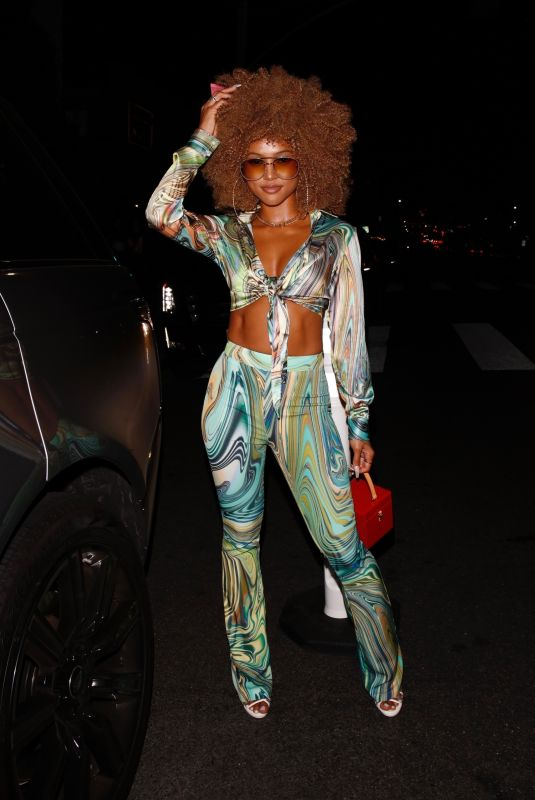 Karrueche Tran Channels her inner Foxy Cleopatra at an Austin Powers-themed birthday bash in West Hollywood