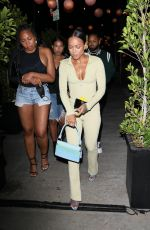 Karrueche Tran Looks great as she steps out for dinner with friends at TAO restaurant in Los Angeles