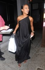 Karrueche Tran Takes home leftovers after dinner at Craig