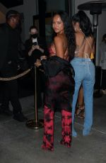 Karrueche Tran Turns heads in her tie dye outfit as she heads out for dinner at Catch LA in West Hollywood