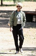 Kate Mara Debuts new blonde hair while out at the park in Los Angeles