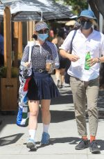Kathryn Newton Takes her golf clubs out to lunch in Beverly Hills