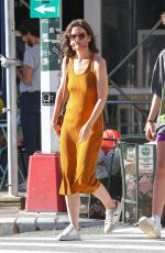 Katie Holmes Goes bra-free as she debuts new hairstyle in New York