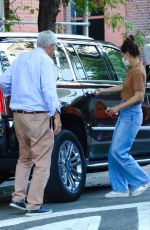 Katie Holmes Steps out with her father for dinner in NYC