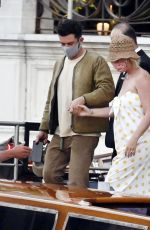 Katy Perry and Orlando Bloom get romantic on a taxi boat in the beautiful city of Venice