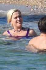 Katy Perry In a swimsuit on the beach in Greece
