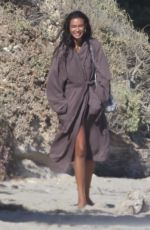 Kelly Gale Does a photo shoot on the beach in Malibu