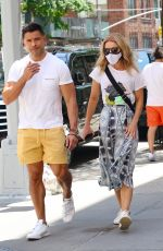 Kelly Ripa And Mark Consuelos stay cool while out shopping in Uptown Manhattan