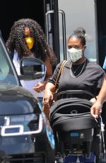 Kelly Rowland Shops for new bling with her baby boy in Beverly Hills