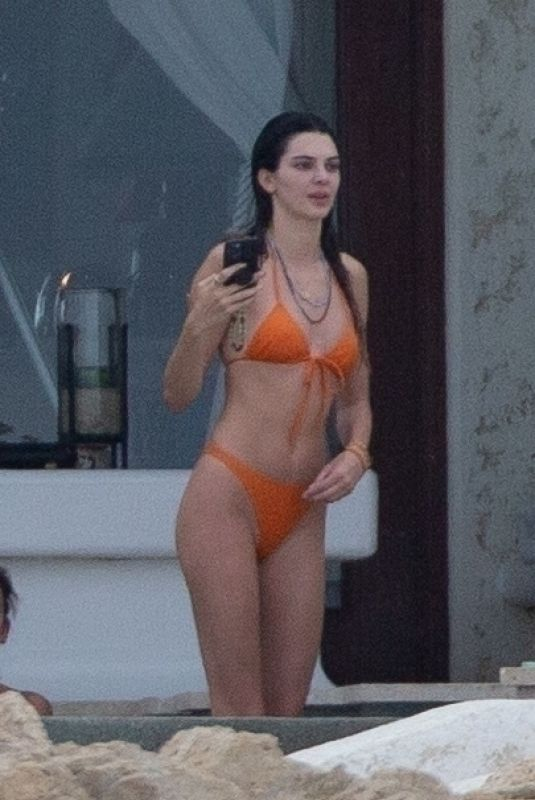 Kendall Jenner and Hailey Bieber Wearing Bikinis at Holiday House in Cabo San Lucas