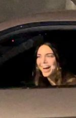 Kendall Jenner Busts out in laughter after running into Chris Paul in downtown LA after the Lakers vs Suns game