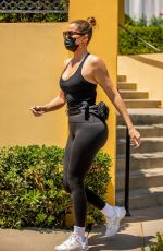 Khloe Kardashian Is seen enjoying a day out with Tristan and their daughter at Porto Villa in Calabasas