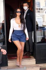Kim Kardashian Seen out at a restaurant in Rome, Italy