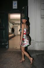 Kim Kardashian Slips into a floral silk dress as she heads to dinner in Rome