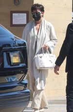Kylie Jenner and her mother Kris are seen departing after lunch together at Nobu in Malibu